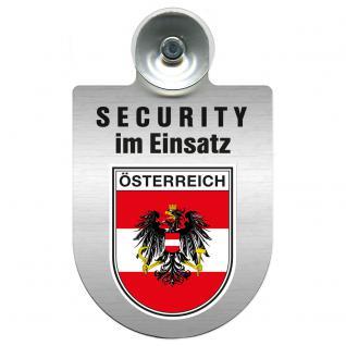 Einsatzschild Windschutzscheibe - Security im Einsatz - incl. Regionen nach Wahl - 309350 Österreich