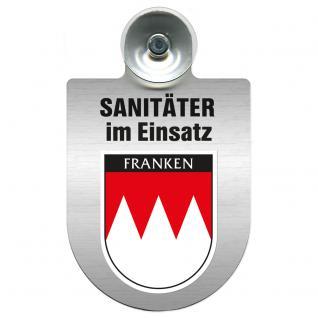 Einsatzschild Windschutzscheibe incl. Saugnapf - Sanitäter im Einsatz - 309396- Regionen nach Wahl Region Franken