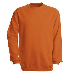 Sweat-Shirt unisex ohne Print in 14 farben Gr. S-XXL 41375 XL / Orange