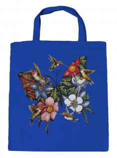(U06993)Umweltfreundliche Baumwoll - Tasche , ca. 28 x 43 cm mit Aufdruck in 7 Farben blau