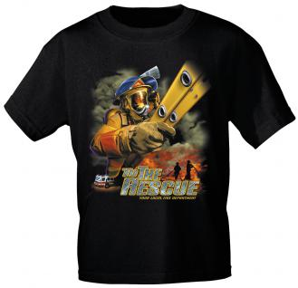 T-Shirt mit Print - Feuerwehr - 10589 - versch. Farben zur Wahl - Gr. schwarz / M
