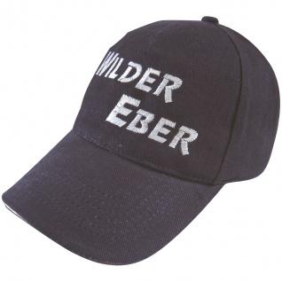 Baseballcap mit Einstickung - Wilder Eber - 68397 schwarz