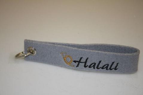 Filz-Schlüsselanhänger mit Stick - Halali - Gr. ca. 17x3cm - 14353