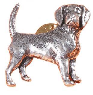 Anstecknadel - Metall - Pin - Spürhund Dackel - 02610