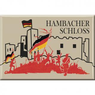 MAGNET - Hambacher Schloss - Gr. ca. 8x5, 5 cm - 37630 - Küchenmagnet
