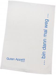 Baumwoll Geschirrtuch - Küchentuch - Trockentuch - Bin dann mal weg - 31492