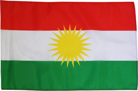 Deko-Länderflagge - KURDISTAN - Gr. ca. 150x100cm - 80190 - Jumboflagge Länderfahne