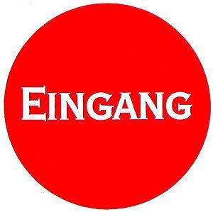 Kunststoffschild - EINGANG - Durchmesser 70mm - 308047 - Geschäft Laden
