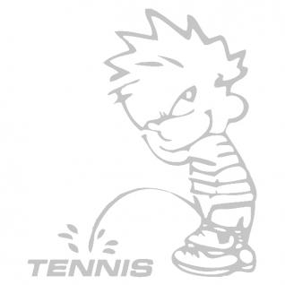 Pinkelmännchen-Applikations- Aufkleber - ca. 15 cm - Tennis - 303643 - silber