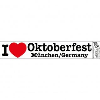 PVC-Aufkleber - I like Oktoberfest - München Germany - 301510-1 - Gr. ca. 18 x 3, 5 cm