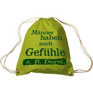 Trend-Bag Turnbeutel Sporttasche Rucksack mit Aufdruck Männer haben auch Gefühle... 65083-1