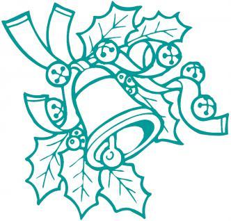 """Wandtattoo/ Dekorfolie mit Motiv """" Zweig mit Glocke"""" Ø 90cm Länge max. 100 cm, in 11 Farben WD0801 türkis"""