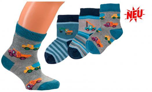 (56700) 3er Pack Baby- Söckchen Jungen Socken Größe 56-68 74-86 92-98 - BAGGER 74-86