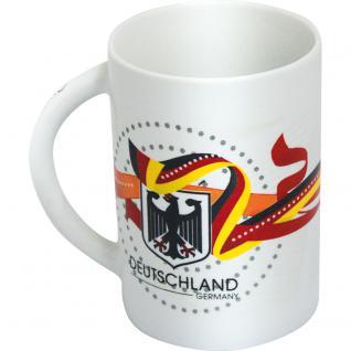 Keramiktasse Tasse mit Print Deutschland Wappen 77591 weiß