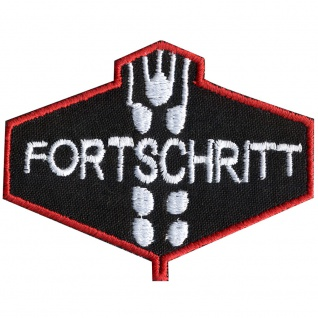 Aufnäher Applikation - Abzeichen Emblem Fortschritt - 00824 - Gr. ca 7, 5cm x 5, 5cm