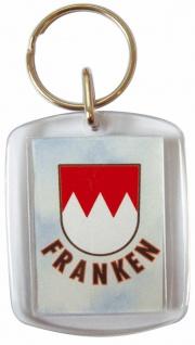 Plexi Schlüsselanhänger - Franken - 03348