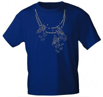 (12852) T- Shirt mit Glitzersteinen Gr. S - XXL in 13 Farben L / Royal