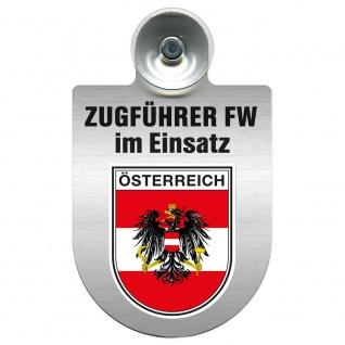Einsatzschild Windschutzscheibe incl. Saugnapf - Zugführer Feuerwehr im Einsatz - 309749 - Region Österreich