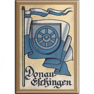 Küchenmagnet - Wappen Donau Eschingen - Gr. ca. 8 x 5, 5 cm - 37516 - Magnet Kühlschrankmagnet