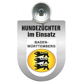 Einsatzschild Windschutzscheibe incl. Saugnapf - Hundezüchter im Einsatz - 309378-1 - Region Baden-Württemberg