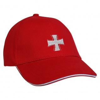 Baseballcap mit Einstickung Eisernes Kreuz 68284 rot