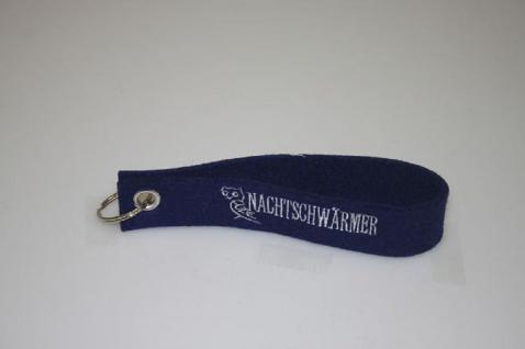 Filz-Schlüsselanhänger mit Stick - Nachtschwärmer - Gr. ca. 17x3cm - 14404