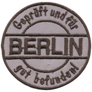 AUFNÄHER - Berlin - 03135 - Gr. ca .6cm - Patches Stick Applikation