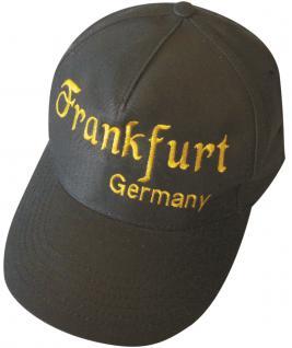 Baseballcap mit Einstickung - Frankfurt Main oder Germany - 68033 schwarz