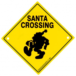 Adventure-Schild incl. 2 Saugnäpfe Hinweisschild Santa Crossing 309130/1 Gr. ca. 22, 5cm x 22, 5cm