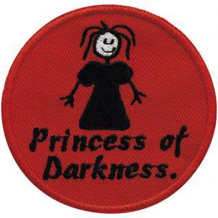 Aufnäher - Princess of Darness - 01950 - Gr. ca. Ø 8 cm - Patches Stick Applikation