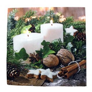 Tissue Servietten 20er-Pack Weihnachten Adventskerzen 33x33cm 33739