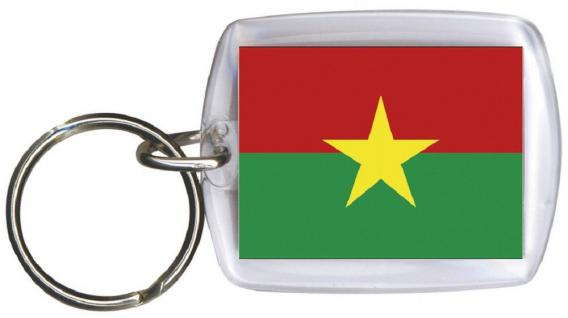 Schlüsselanhänger Anhänger - BURKINA FASO - Gr. ca. 4x5cm - 81033- WM Länder