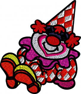 AUFNÄHER - CLOWN - NEU - 04742 - Gr. ca. 6 cm x 7 cm - Patches Stick Applikation Bügel-Emblem