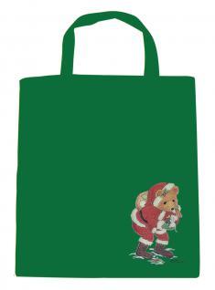 (08903/3-grün) Umweltfreundliche Baumwoll - Tasche , ca. 38 x 43 cm mit Aufdruck