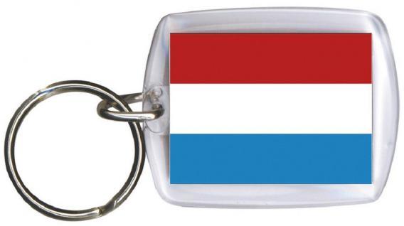 Schlüsselanhänger Anhänger - LUXEMBURG - Gr. ca. 4x5cm - 81096 - Keyholder WM Länder
