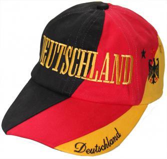 Baseballcap mit Einstickung Deutschland Adler Sterne 67040/3 schwarz rot gelb