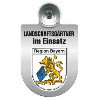 Einsatzschild Windschutzscheibe incl. Saugnapf - Landschaftsgärtner im Einsatz - 309375 - Region Bayern