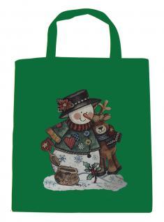 (08903/1-grün) Umweltfreundliche Baumwoll - Tasche , ca. 28 x 43 cm mit Aufdruck