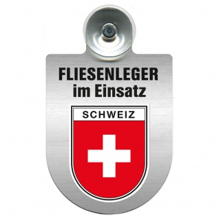Einsatzschild Windschutzscheibe incl. Saugnapf - Fliesenleger im Einsatz - 393811 - Region Schweiz