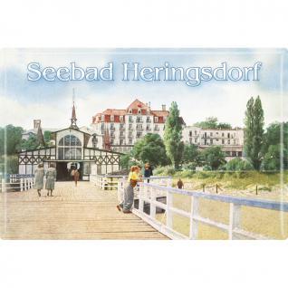 Magnet - Seebad Heringsdorf - Gr. ca. 8 x 5, 5 cm - 38138 - Küchenmagnet