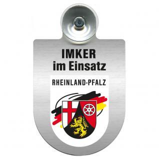 Einsatzschild Windschutzscheibe incl. Saugnapf - Imker im Einsatz - 309382-0-9 - Region Rheinland-Pfalz