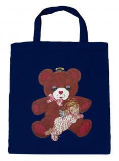 (08903/2-navy) Umweltfreundliche Baumwoll - Tasche , ca. 28 x 43 cm mit Aufdruck