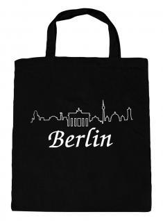 (09713-Tasche) Umweltfreundliche Baumwoll - Tasche , ca. 28 x 43 cm mit Aufdruck? Berlin?