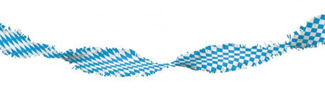 Girlande - blau-weißes Rautendesign - 07742 ca. 6m lang