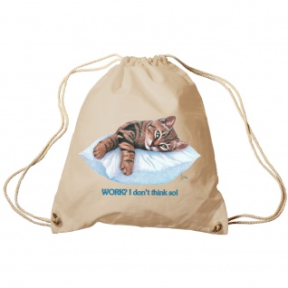 Sporttasche Turnbeutel Trend-Bag Print Cat Katze ruhend auf Kissen - KA072/2