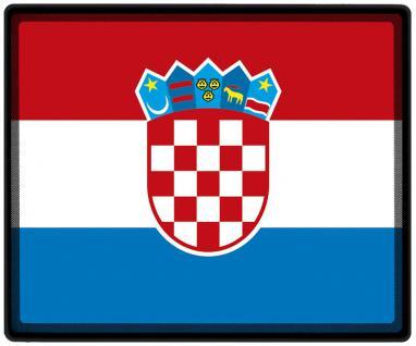 Mousepad Mauspad mit Motiv - Kroatien Fahne Fußball Fußballschuhe - 82087 - Gr. ca. 24 x 20 cm