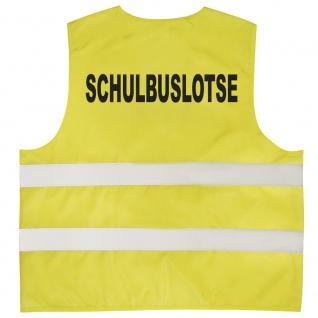 Warnweste mit Print - Schulbuslotse - 11712 gelb Gr. 3XL