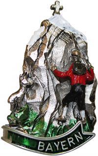 Anstecknadel - Metall - Pin - Bayern - Bergmotiv - Bergsteiger - 02668 - Gr. ca. 2, 5 x 3, 6 cm