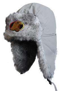 Chapka Fliegermütze Pilotenmütze Fellmütze in grau mit 28 verschiedenen Emblemen 60015 Snowboarder 2 - Vorschau 5
