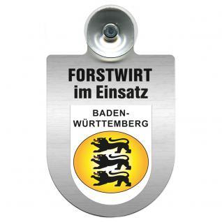 Einsatzschild für Windschutzscheibe incl. Saugnapf - Forstwirt im Einsatz - 309468-1 Region Baden-Württemberg
